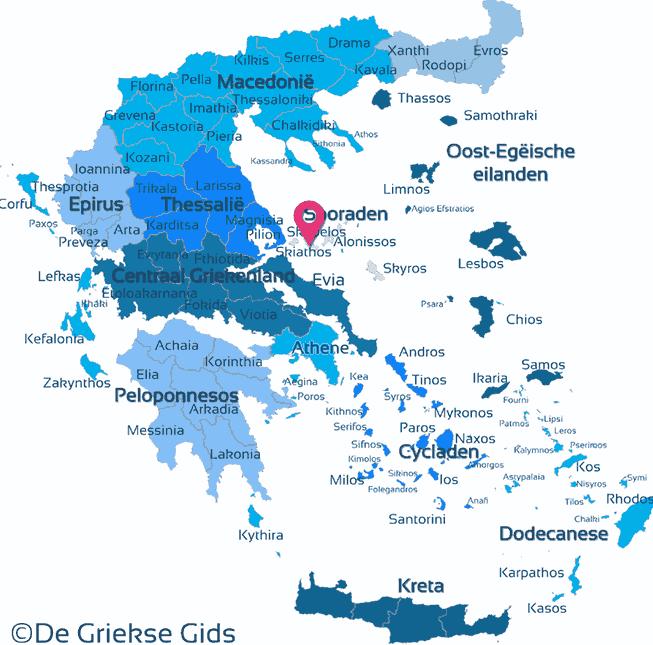 Karte Skopelos