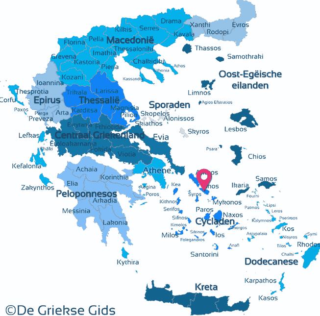 Karte Tinos