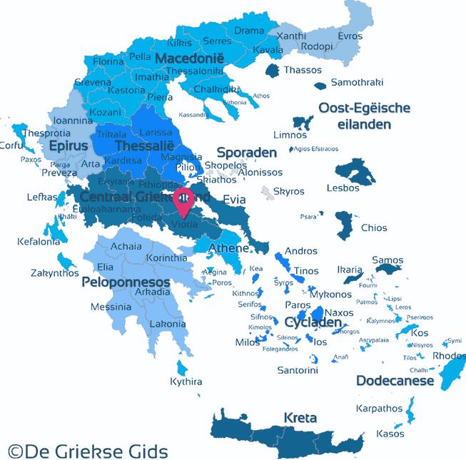 Karte Viotia